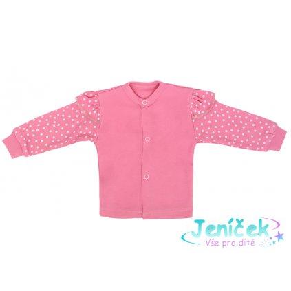 Novorozenecká bavlněná košilka, Princezna Puntík - růžová V