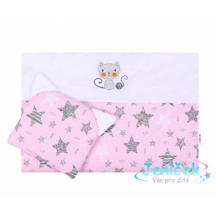Dětská sada do kočárku Baby Nellys ® STARMIX, růžovo-bílá