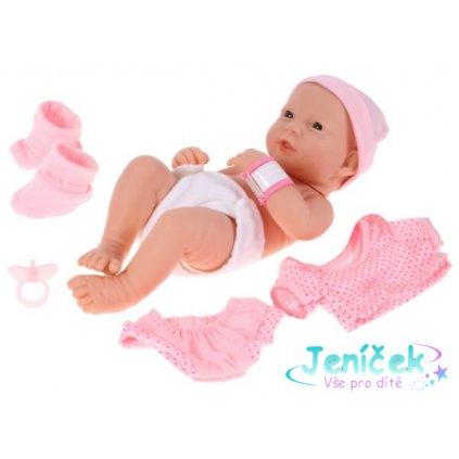 Tulimi New Born panenka Lili s oblečením, 35cm - růžová v