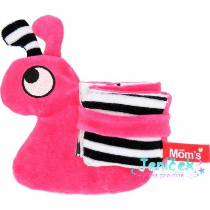 Hencz Toys Edukační/textilní knížečka - hlemýžď, růžová V