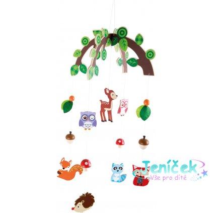 Small Foot Závěsný kolotoč Lesní zvířátka