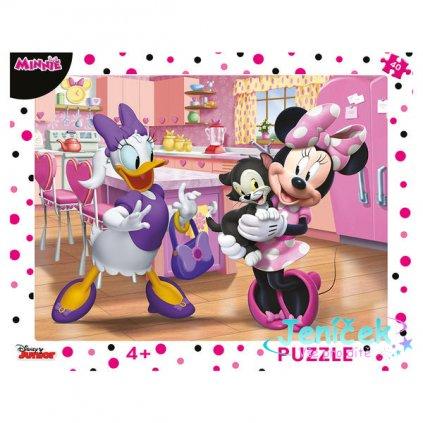 Dino Puzzle Růžová Minnie 40 dílků