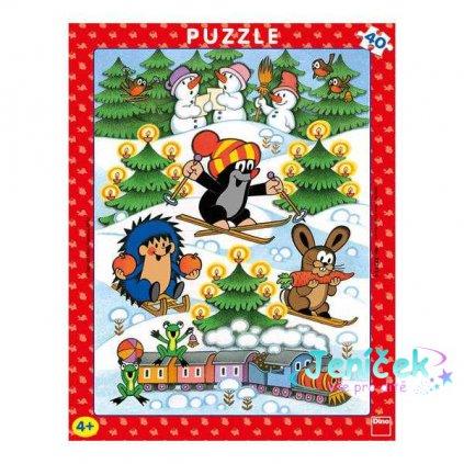 Dino Papírové puzzle Krtek na sněhu 40 dílků