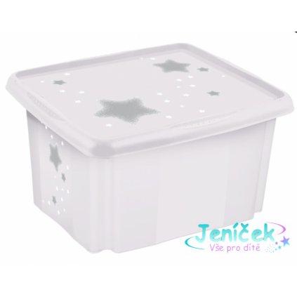Baby Nellys Box na hračky Baby Star 24 l - bílý