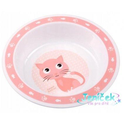 Canpol babies Plastová miska Kočička - růžová