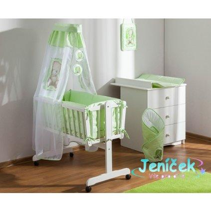 Baby Nellys 8-dílná sada do kolébky Sweet Dreams by TEDDY - zelená