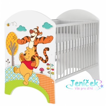 BabyBoo Dětská postýlka Disney Medvídek PÚ a Tygřík 120x60cm