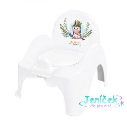 Tega Baby Nočník/židlička Jednorožec - bílý