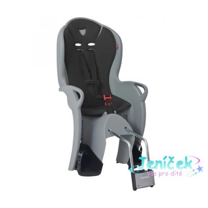 HAMAX Cyklosedačka Kiss Medium Grey/Black