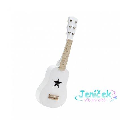 Kytara dřevěná bílá