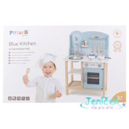 Dřevěná kuchyňka modrá