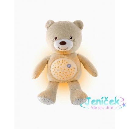 CHICCO Medvídek s projektorem Baby Bear First Dreams - neutral 0m+