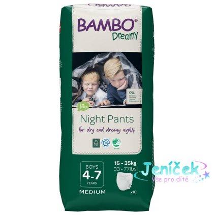 BAMBO Dreamy Night Kalhotky plenkové jednorázové Pants Boy 4-7 let, 10 ks, pro 15-35 kg