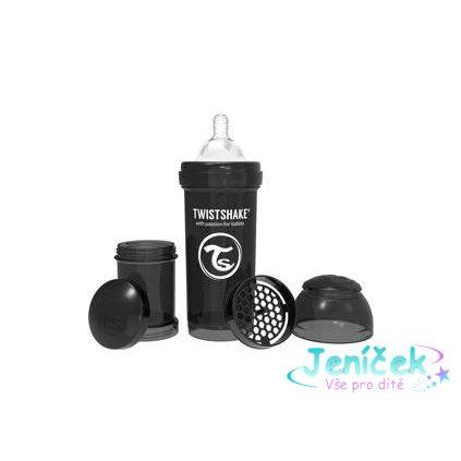 TWISTSHAKE Láhev kojenecká Anti-Colic 260 ml (2m+) černá
