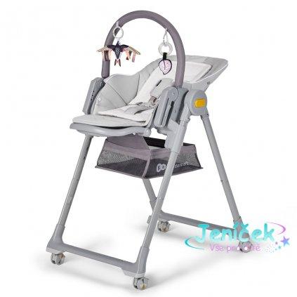 KINDERKRAFT Židlička jídelní Lastree Grey