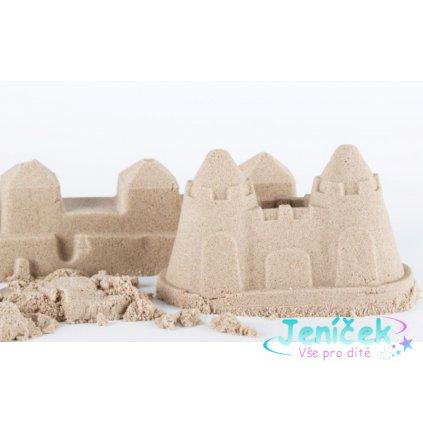 NaturSand Kinetický písek - přírodní - 3kg + formičky Zmrzlina a pískoviště zdarma