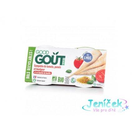 2440 good gout bio rajcatka s pastinakem a bulgurem 2x190 g