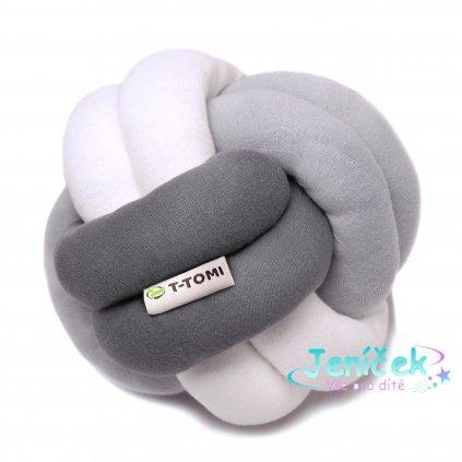 Pletený míček, white - grey - antracit V