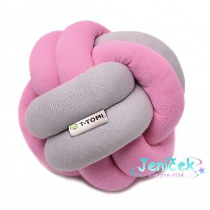 Pletený míček, pink - grey V