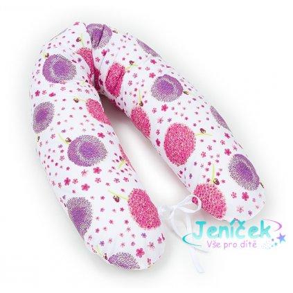 Mamo Tato Kojící polštář - relaxační poduška Multi Pampelišky růžové