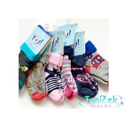 YO! Froté ponožky holčičí MIX vzorů - 1KS