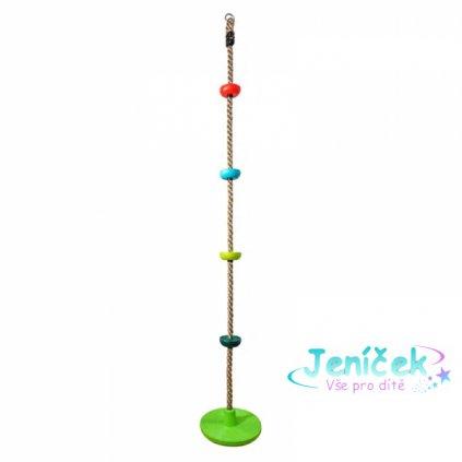 Dvěděti Dětské šplhací lano s disky barevné
