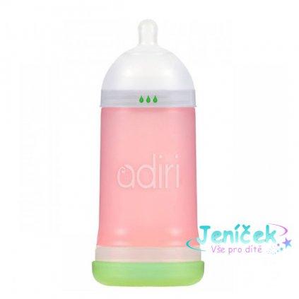 Kojenecká láhev ADIRI NxGen Nurser, Střední průtok, 6-9 měsíců, růžová