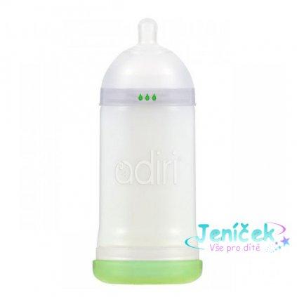 Kojenecká láhev ADIRI NxGen Nurser, Střední průtok, 6-9 měsíců, bílá