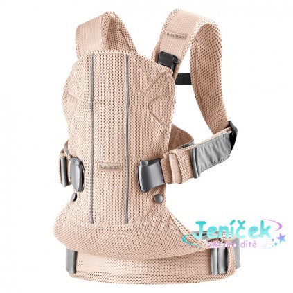 Ergonomické nosítko Babybjorn ONE Pearly Pink 3D Mesh