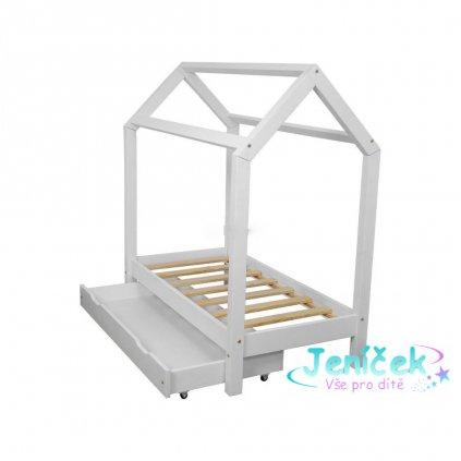 Dětská postel DOMEK + šuplík 160x80