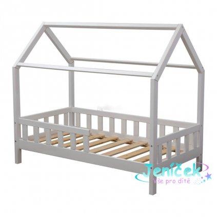 Dětská postel DOMEK bílá 160x80