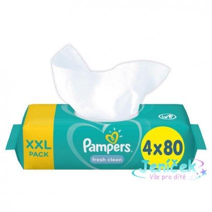 Ubrousky vhlčené XXL Fresh Clean 4x80ks Pampers
