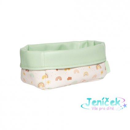 Bebe-Jou Textilní košík na kojenecké potřeby Bébé-Jou Rainbow Sky