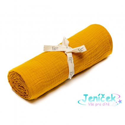 ESECO Mušelínová osuška mustard
