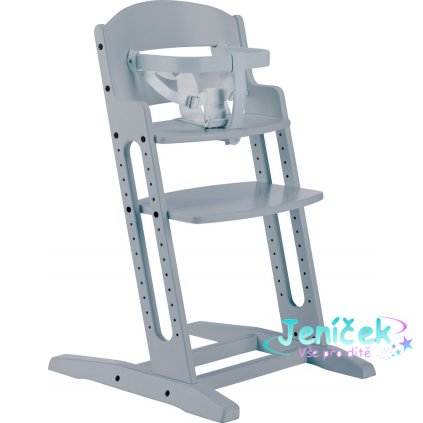 Baby Dan Dřevěná jídelní židlička BabyDan DanChair Grey