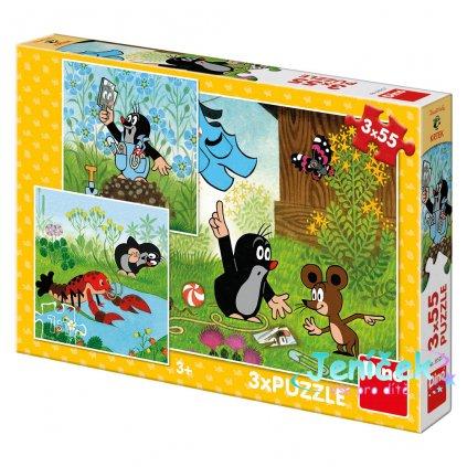 Dino Puzzle Krteček a kalhotky 3x55 dílků