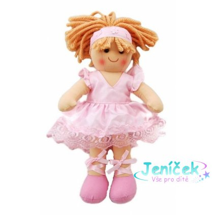 Bigjigs Hadrová panenka Sofie baletka, 27cm