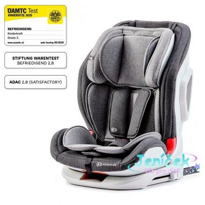 KINDERKRAFT Autosedačka Oneto3 Isofix Black/Gray 9-36 kg