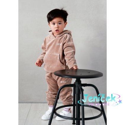welurowa dziecieca bluza z kapturem coffe (2)