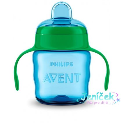 Philips AVENT Hrneček pro první doušky Classic 200 ml s držadly chlapec V