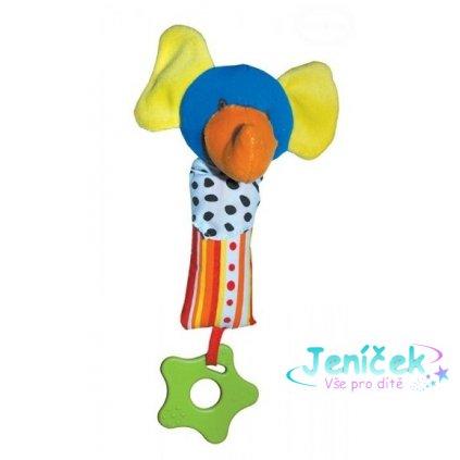 Euro Baby Edukační hračka - chrastítko - SLON