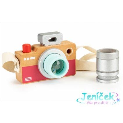 ECO TOYS Dřevěný fotoaparát - kaleidoskop V
