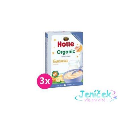 3x HOLLE Kaše mléčná Bio banánová 250 g