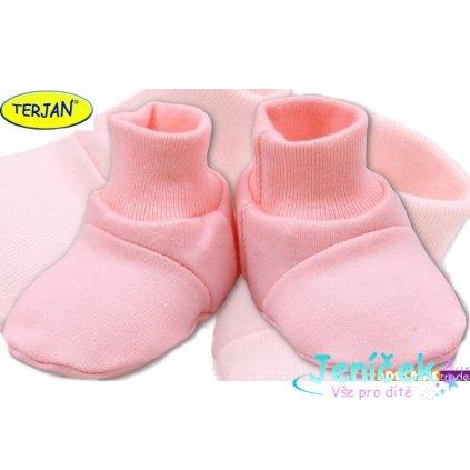 TERJAN Botičky/ponožtičky BAVLNA - sv. růžové V