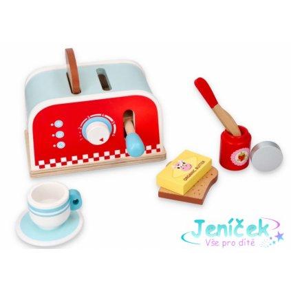 Lelin Dřevěná hračka - Pop-up toaster