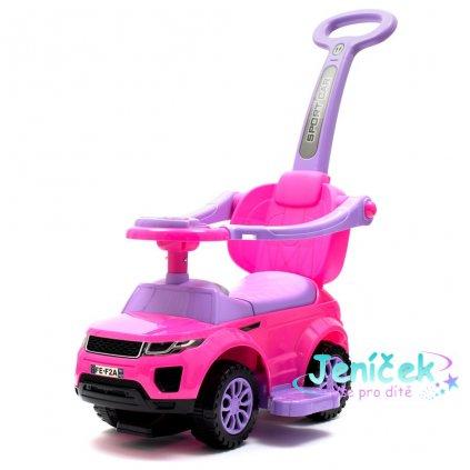 Dětské hrající jezdítko 3v1 Baby Mix růžové