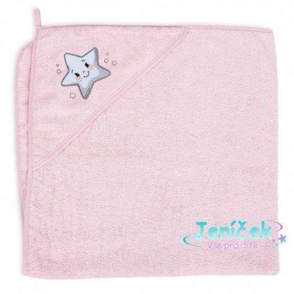 CEBA Osuška s kapucí Froté 100 x 100 Star Pink
