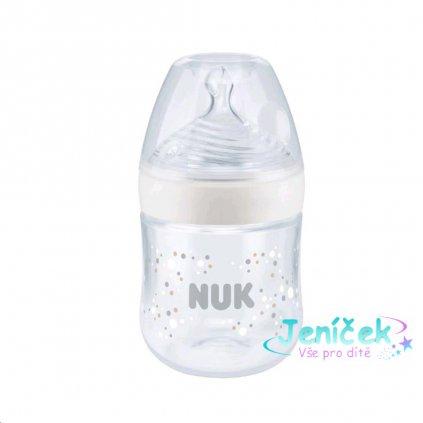 Kojenecká láhev NUK Nature Sense s kontrolou teploty 150 ml bílá
