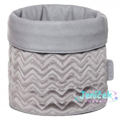 Bebe-Jou Textilní košík na kojenecké potřeby Bébé-Jou Fabulous Griffin Grey