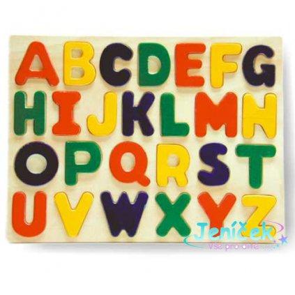 Dřevěné vkládací puzzle zvířátka abeceda